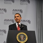 President Obama spoke at the AMA conference last week