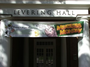 Banners welcome students