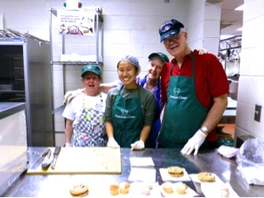 Dietetic intern Bernice Chu and community-based food work at the Franciscan Center, 2013.