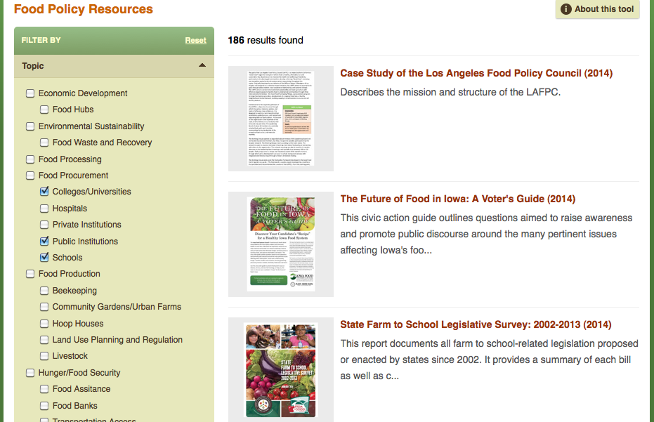 Johns Hopkins Food Policy Networks