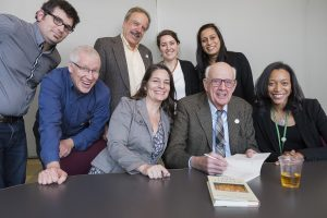 Wendell Berry with the CLF communications team, Dec 8 2016.